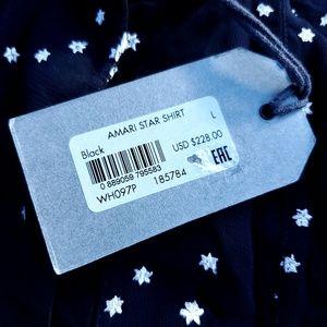 All Saints Tops - All Saints Amari Star Shirt - Sheer Button Down